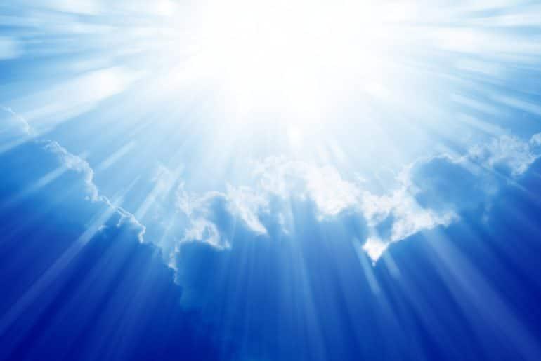 Bright blue sky photo depicting Heaven, the ultimate FOMO destination