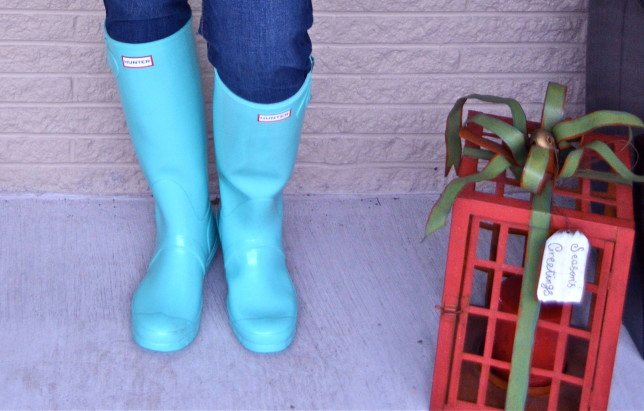 50 is not old Tiffany Blue Hunter Boots3