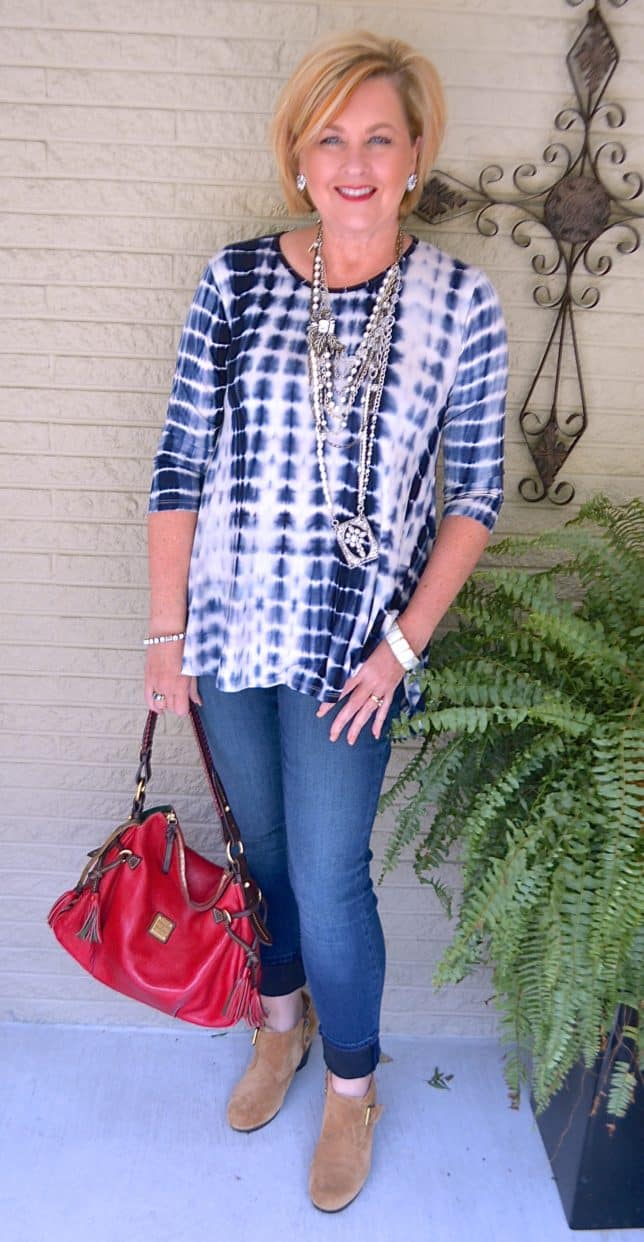 50 IS NOT OLD | TIE-DYE AND JEGGINGS