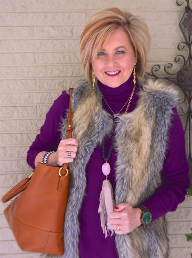 50 IS NOT OLD | FAUX FUR VEST FOR WARMTH