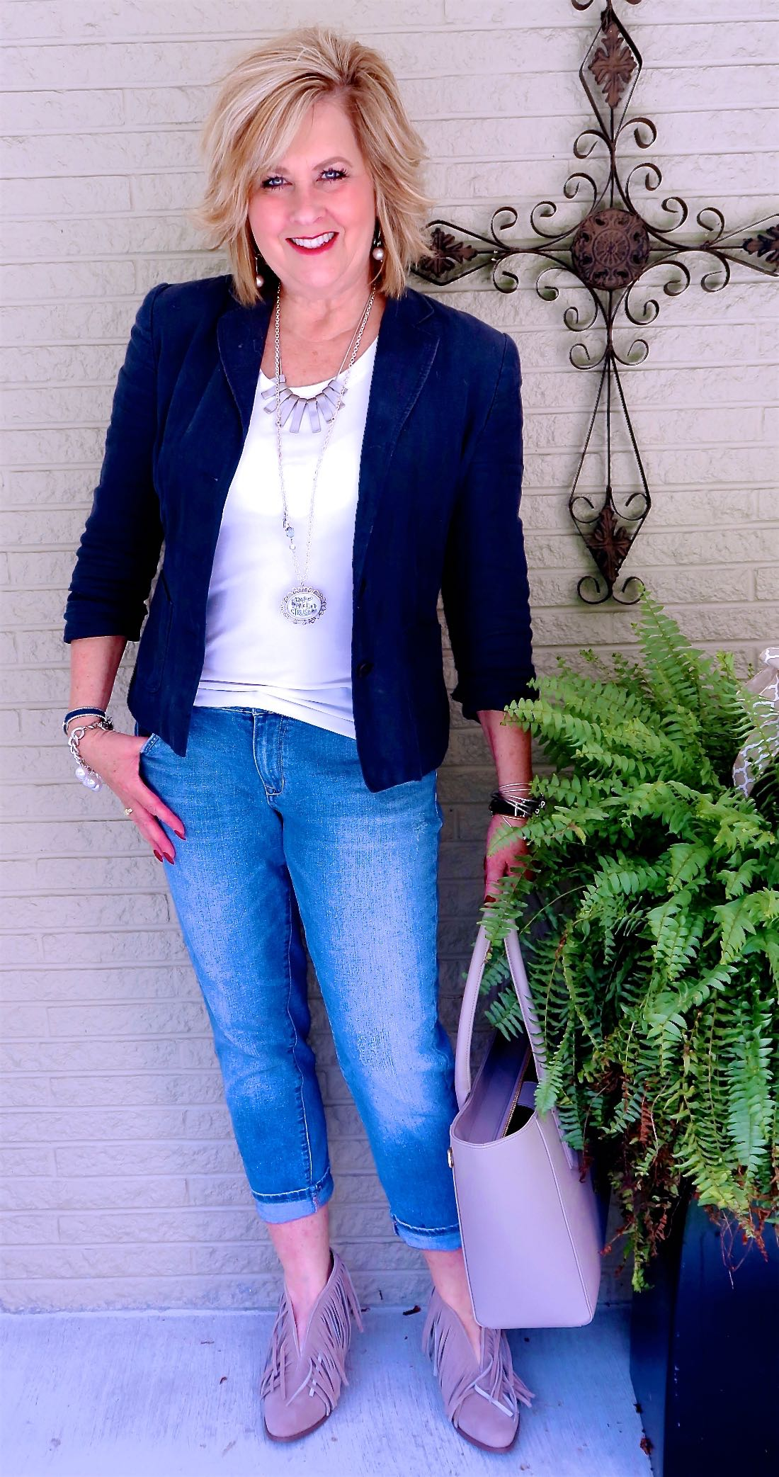 50 IS NOT OLD   BOYFRIEND JEANS AND A JACKET