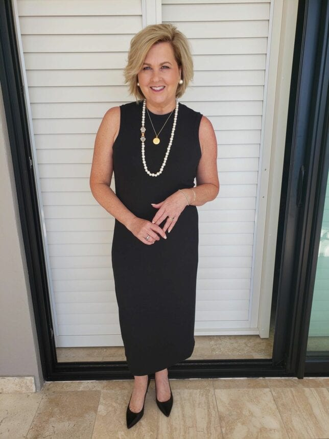 50 IS NOT OLD | HOW TO STYLE A SIMPLE BLACK DRESS | FASHION OVER 40