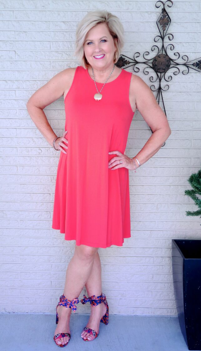 50 IS NOT OLD | SWING DRESS AND TIE SANDALS | FASHION OVER 40