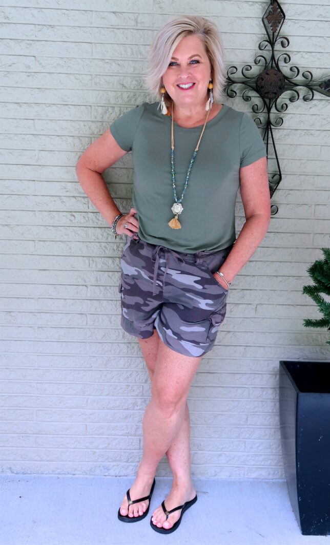 50 IS NOT OLD   STYLING CAMO AND OLIVE GREEN   FASHION OVER 40