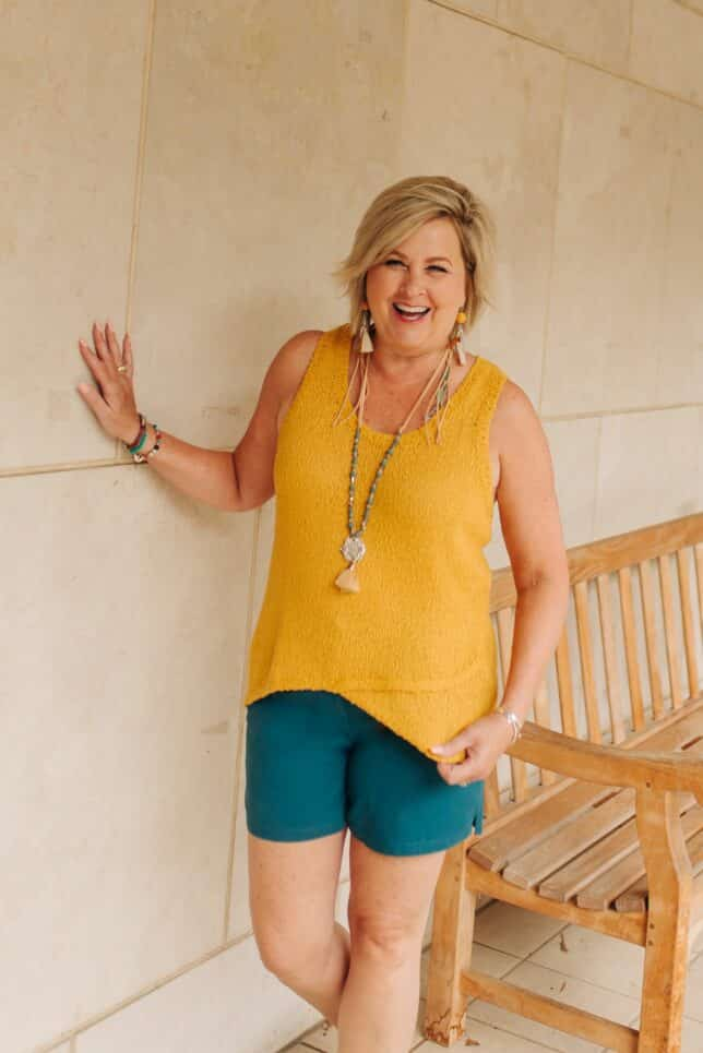 50 IS NOT OLD | HOW TO WEAR FALL COLORS IN THE SUMMER | FASHION OVER 40