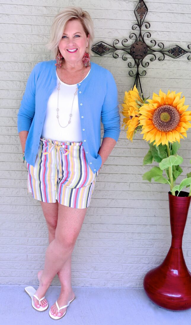 50 IS NOT OLD | ARE PAPER BAG WAIST SHORTS FOR YOU | FASHION OVER 40
