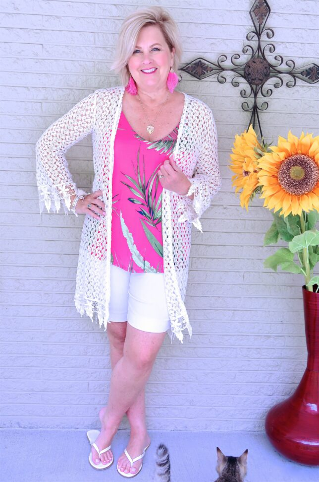 50 IS NOT OLD | ADDING BRIGHT COLORS TO A WHITE OUTFIT | 50 IS NOT OLD