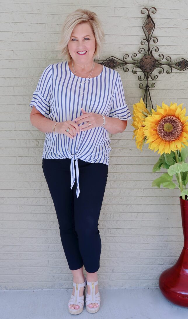 50 IS NOT OLD   SOLIDS AND STRIPES FOR A CLASSIC LOOK   FASHION OVER 40