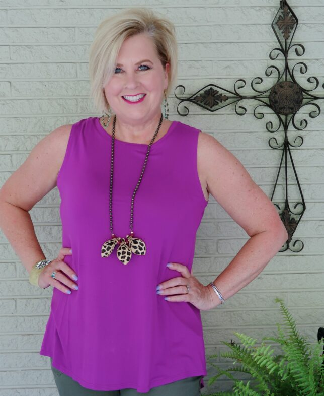 50 IS NOT OLD   WOULD YOU WEAR OLIVE AND PURPLE TOGETHER   FASHION OVER 40