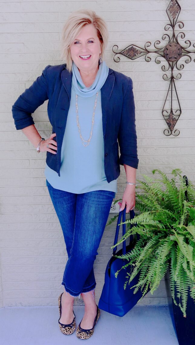 50 IS NOT OLD | WHY A SLEEVELESS TOP IS PERFECT FOR FALL | FASHION OVER 40
