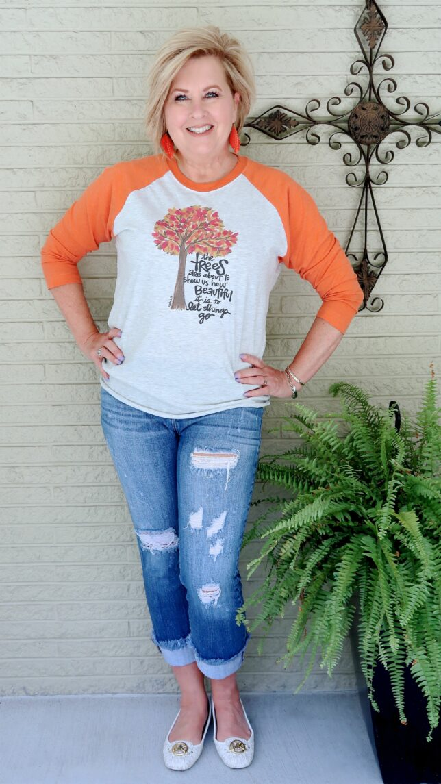 50 IS NOT OLD   FABULOUS FALL TEES   FASHION OVER 40