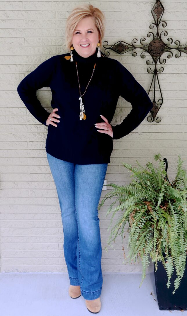 50 IS NOT OLD | TURTLENECK, JEANS, AND ANKLE BOOTS | FASHION OVER 40