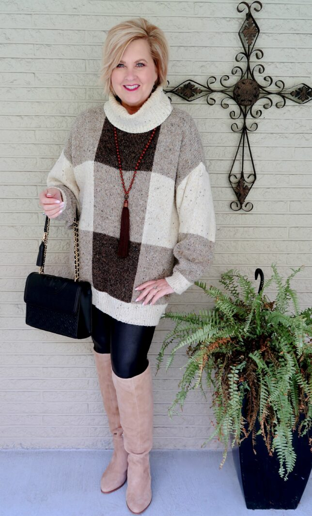 50 IS NOT OLD   HOW TO WEAR OVERSIZED SWEATERS WITH LEGGINGS   FASHION OVER 40