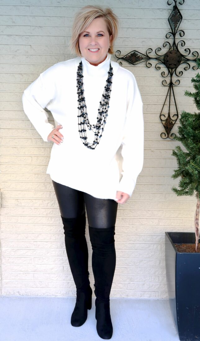 50 IS NOT OLD | HOW TO WEAR BLACK AND IVORY IN A NON-CLASSIC STYLE | FASHION OVER 40
