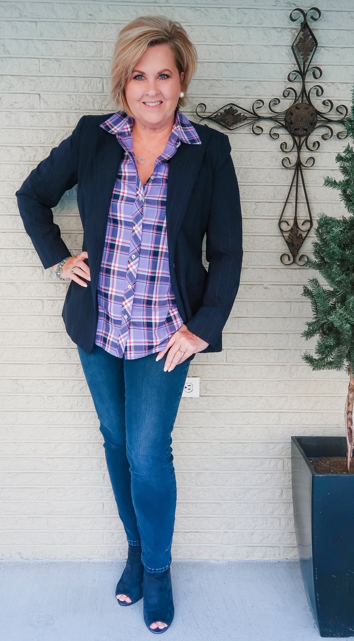 Plaid shirt and Jeans