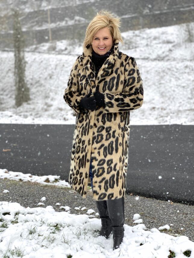 Leopard coats can be a versatile choice