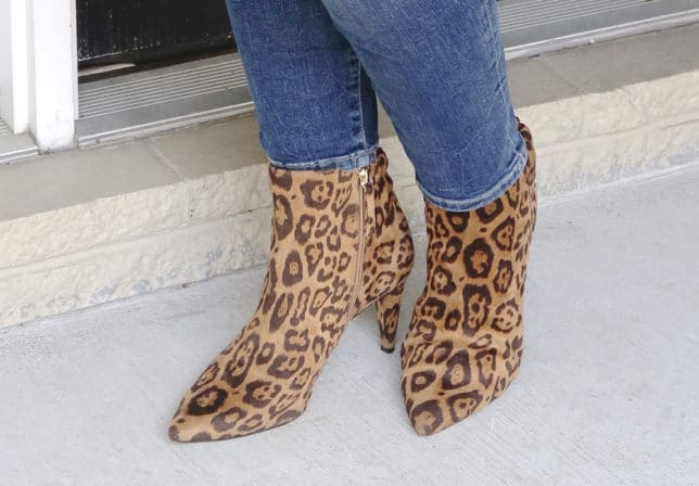 Fashion Blogger 50 Is Not Old is wearing animal print boots