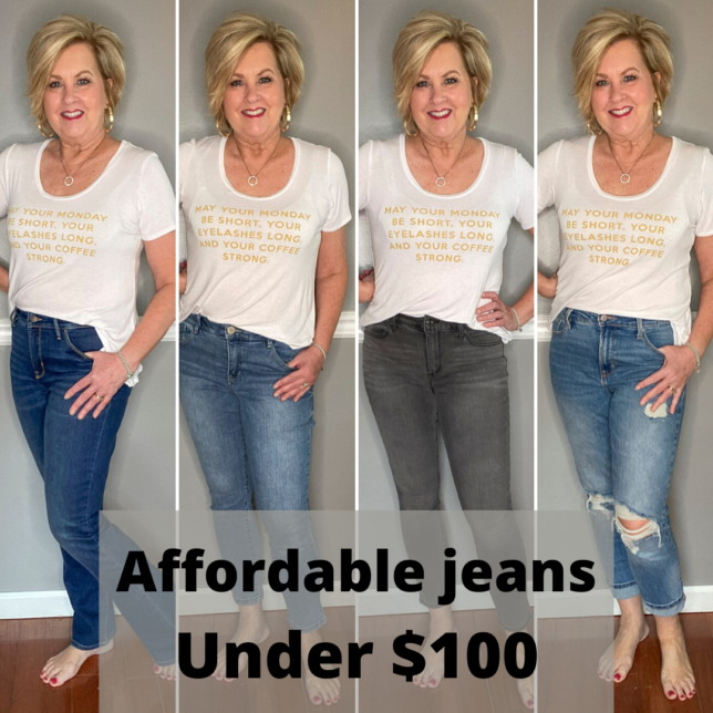 Affordable jeans under 100.00 try-on session