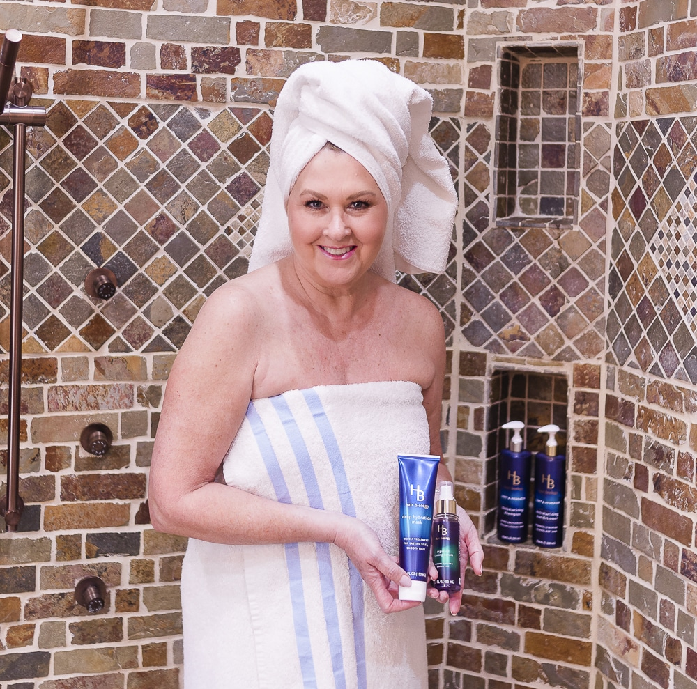 Fashion Blogger 59 Is Not Old with hair products from the Soft & Hydrated line from Hair Biology