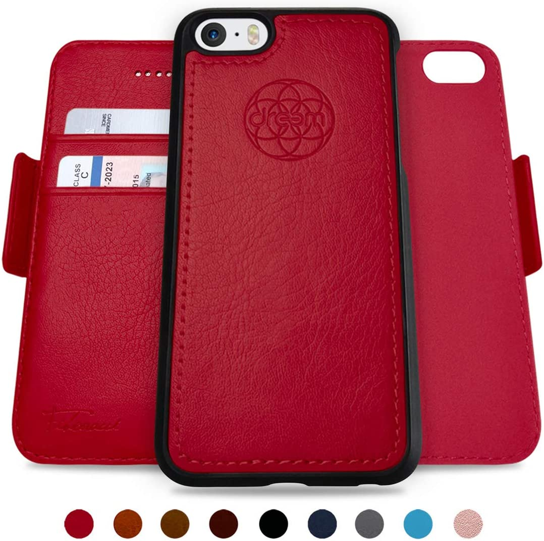 Dreen phone wallet in red