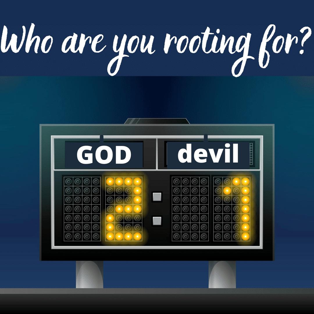 Team God winning over team devil