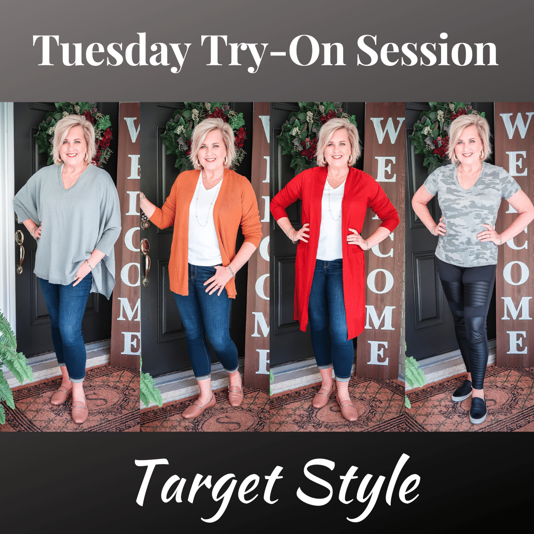 Fashion Blogger 50 Is Not Old is doing a Tuesday Try-On Session with Target