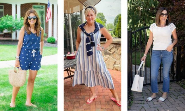 Fashion Blogger 50 Is Not Old is looking festive for the 4th of July along with Cyndi Spivey and Jo-Lynne Shane