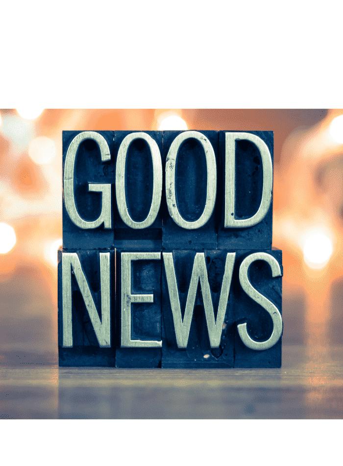 Photo that says Good News