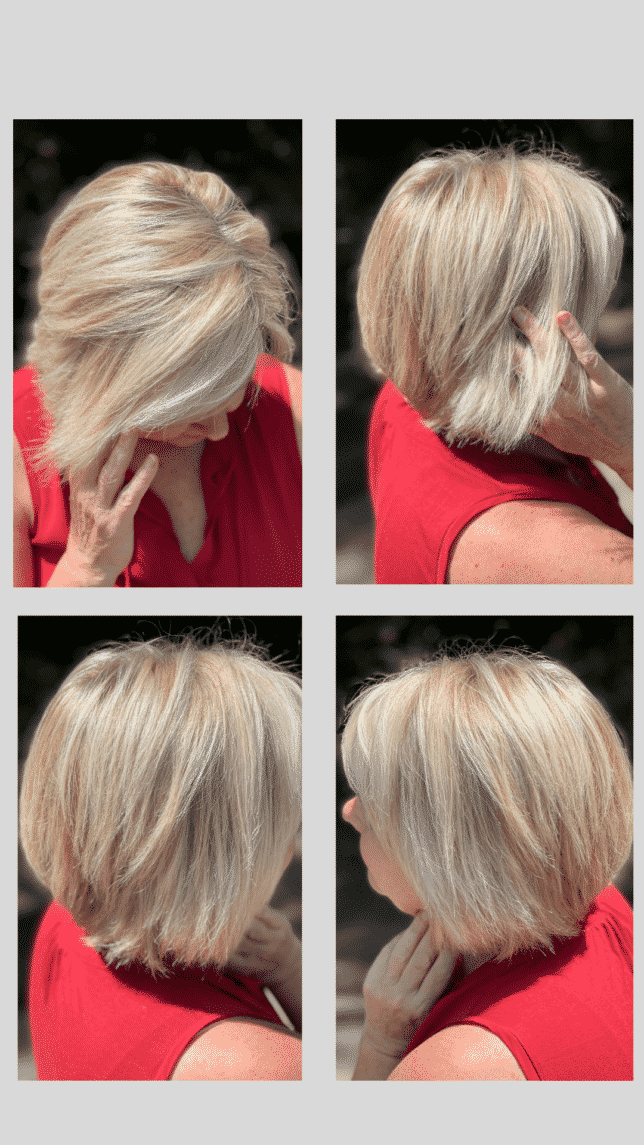 Fashion Blogger 50 Is Not Old is showing 4 photos of her hair style
