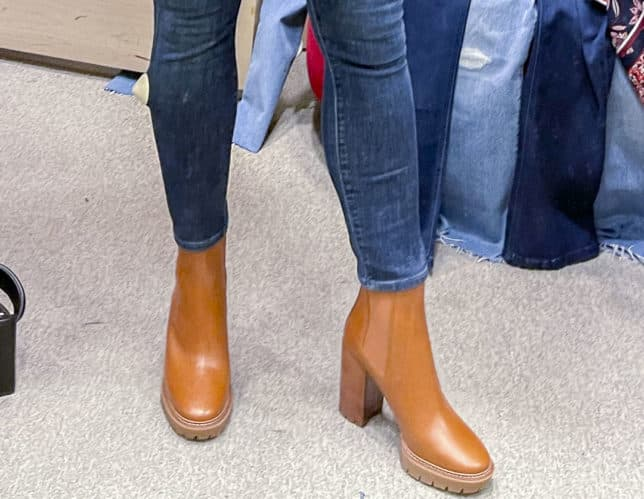 Fashion Blogger 50 Is Not Old is wearing Tory Butch Lug Sole boots from the Nordstrom Anniversary Sale