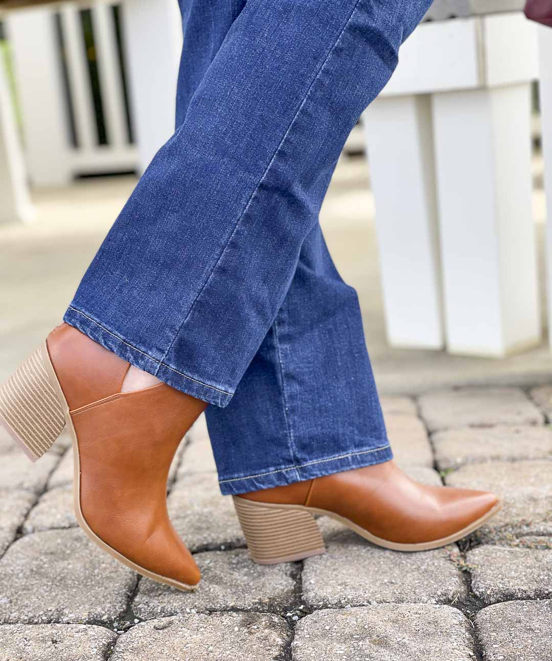 Over 40 Fashion Blogger, Tania Stephens, is showing her recent Walmart haul including these faux leather ankle boots
